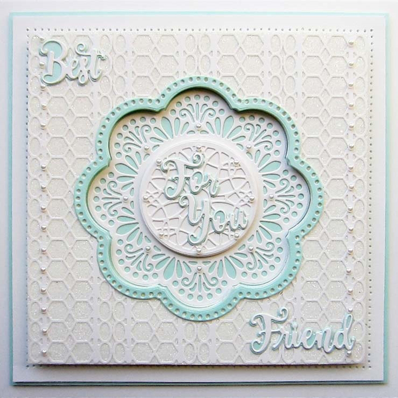 Bubble Lace Edge Frame  Metal Cutting Dies Stencils For DIY Scrapbooking Decorative Embossing Cards Craft Die Template