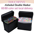 touchfive markers sets 60/80 colors Oily alcohol marker for drawing manga Brush pen Animation Design Art Supplies Marcador