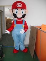 Высокое Качество Супер Марио Взрослых плюш костюм талисмана для праздничных и праздничные атрибуты disfraces фантазии платье аниме косплей