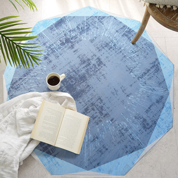 Loartee Now Minimalist Style Geometric Pattern Round Rug Bedroom Living Room Kitchen Children's Room Home Decor Carpet Tapetes