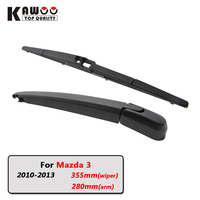 KAWOO Car Rear Wiper Blade Blades Back Window Wipers Arm For Mazda 3 Hatchback 2010 2013