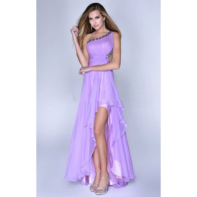 Light Purple Prom Dresses Short Open Back