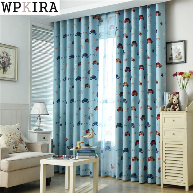kids bedroom curtains. customized cartoon blackout curtains for kids bedroom cars curtain tulle blue/beige drape i