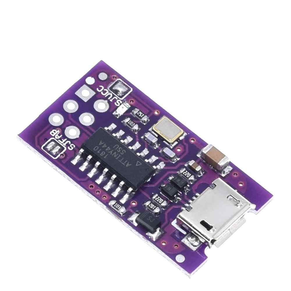 Миниатюрный программатор с Micro USB, AVR ISP ATtiny44 ATTiny45 ATTiny85, USB-программатор, модуль для IDE загрузчика, микроконтроллер ISP, 5 В