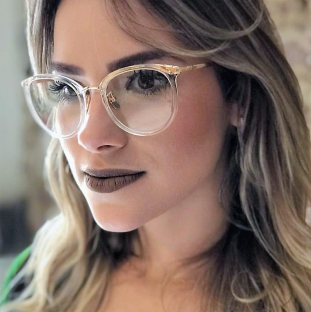 CCSPACE Damen Runde Brille Rahmen Für Frauen WUNDERSCHÖNE Promi ...