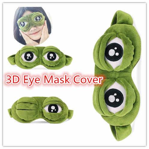 Masker Penutup Kepala Aksesoris Mata Lucu Mewah Sedih 3D Katak Mata Masker Cover Penutup Tidur Istirahat Tidur Anime Hadiah Lucu kacamata # Ialah