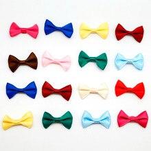 100 шт. 4*2,5 см мини бант из атласной ленты заколки для волос Аппликация «сделай сам» Скрапбукинг Ремесло свадебные галстуки-бабочки декоративные
