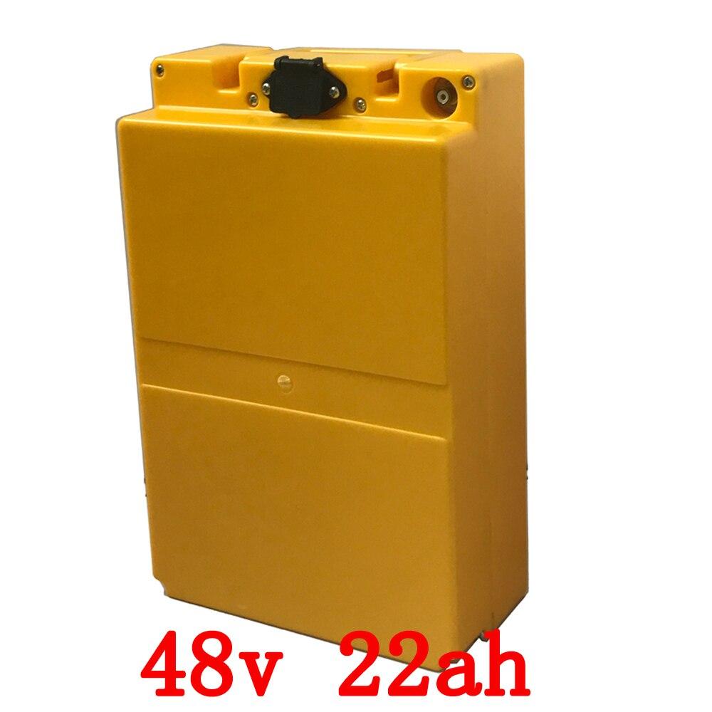 48 v 22ah batteria al litio 48 V 22ah batteria elettrica della bicicletta 48 V 1000 W scooter batteria con custodia in plastica con 54.6 V 2A caricatore