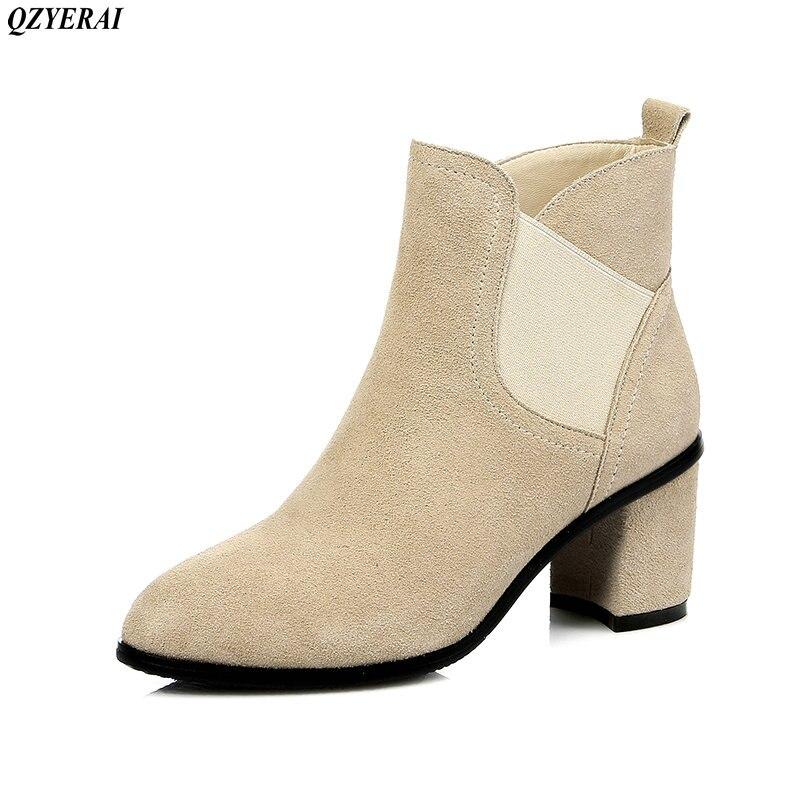 Vache Bottes Peau 34 noir Cheville Femmes 100 2018 Sexy Martin Nouveau 42 Beige Style Tailles De Chaussures Européenne 6nXqt0