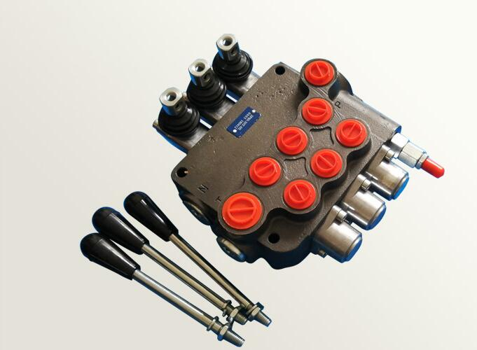 3 Spool Hydraulic Directional Control Valve 11Gpm, Double Acting