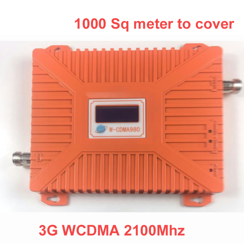 2016 New 3G 2100mhz Booster 22 Dbm Gain 65dbi LCD Display WCDMA Booster Repeater Signal Amplifier Booster CDMA 2000 Repeater