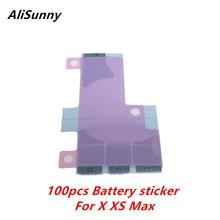 AliSunny 100 قطعة بطارية ملصقا لفون X XS 5.8 XS ماكس 6.5 3M الشريط مزدوجة الغراء لاصق قطاع استبدال أجزاء