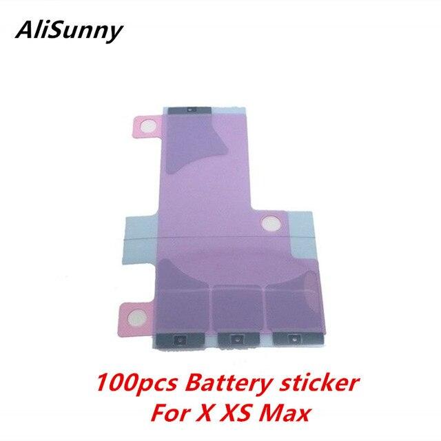 AliSunny 100 sztuk baterii naklejki dla iPhone X XS 5.8 XS Max 6.5 3M taśmy podwójne klej taśma klejąca części zamienne