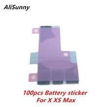 AliSunny 100pcs סוללה מדבקה עבור iPhone X XS 5.8 XS מקסימום 6.5 3 כפול דבק דבק רצועת החלפת חלקים