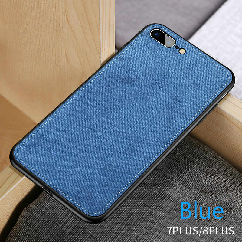 New Fabric Ultra thin Canvas Silicon Phone Case For iphone 7 8 6 ...