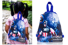 1PC Avengers Captain America/Super Man/Iron Man/Thor Children Drawstring Backpacks Bags 34*27CM Non Woven Fabrics Home Storage