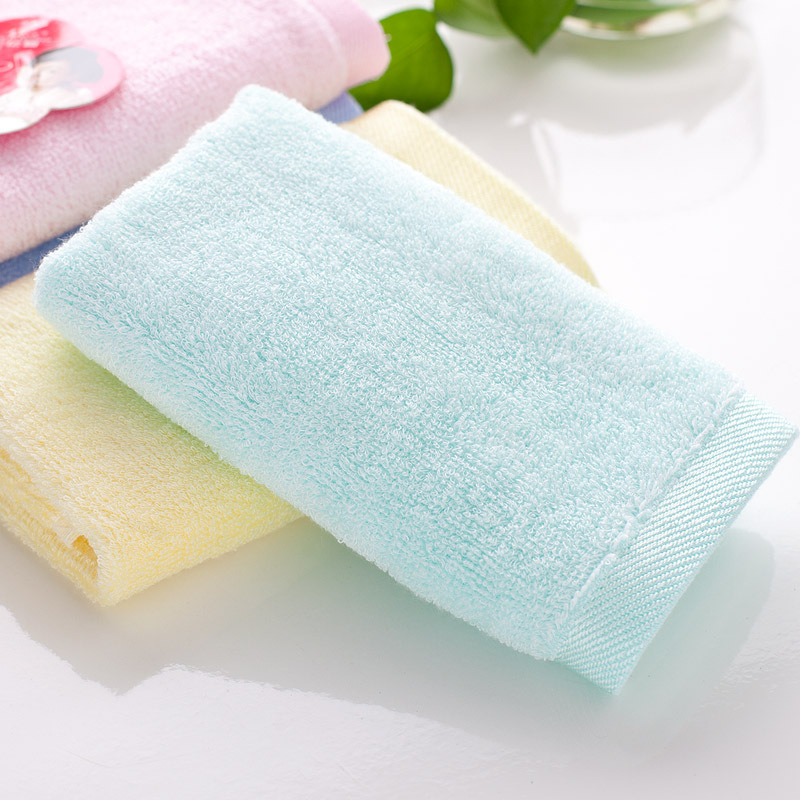 Manufacturers selling bamboo fiber thickening Small towel infant baby wipes pure color hand towel children wash face towel