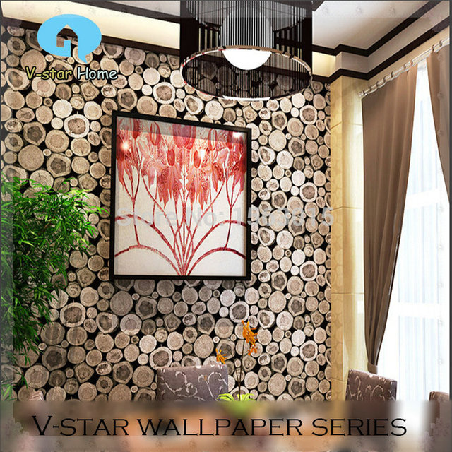 Waterproof Convex 3d Paper For Bathroom Simulation Of Wood Section Wallpaper Fashion Personality Restaurant Background 053