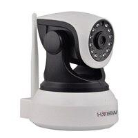 H. View WiFi אלחוטי 720 P IP המצלמה WiFi IP המצלמה שתי דרך לפקח על תינוק אודיו פאן הטיה אבטחת מצלמה קל QR קוד סריקה להתחבר