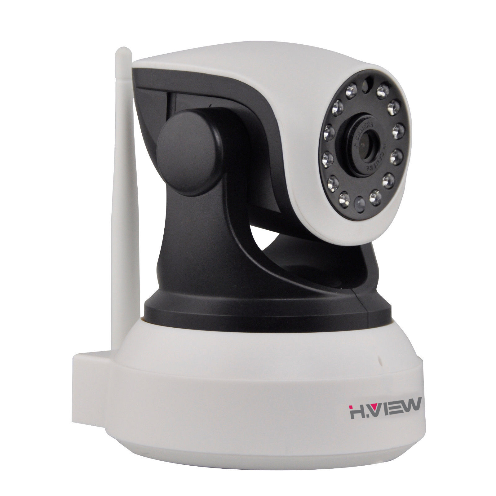 H.View WiFi Wireless 720P IP Camera WiFi IP Camera Two Way Audio Baby Monitor Pan Tilt Security Camera Easy QR CODE Scan Connect