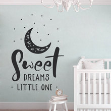 Sweet Dreams Little One Saying Nursery Decor, Cute Baby Shower Gifts, Wall Aer Vinyl Stickers, Sign BO22