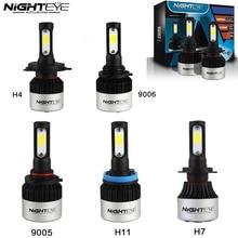 Nighteye White Auto Car Headlights H7 LED H4 led/HB2/9003 H8/H9/H11 HB3/9005 HB4/9006 Fog Light Bulbs 72W 9000LM Headlamp 6500K