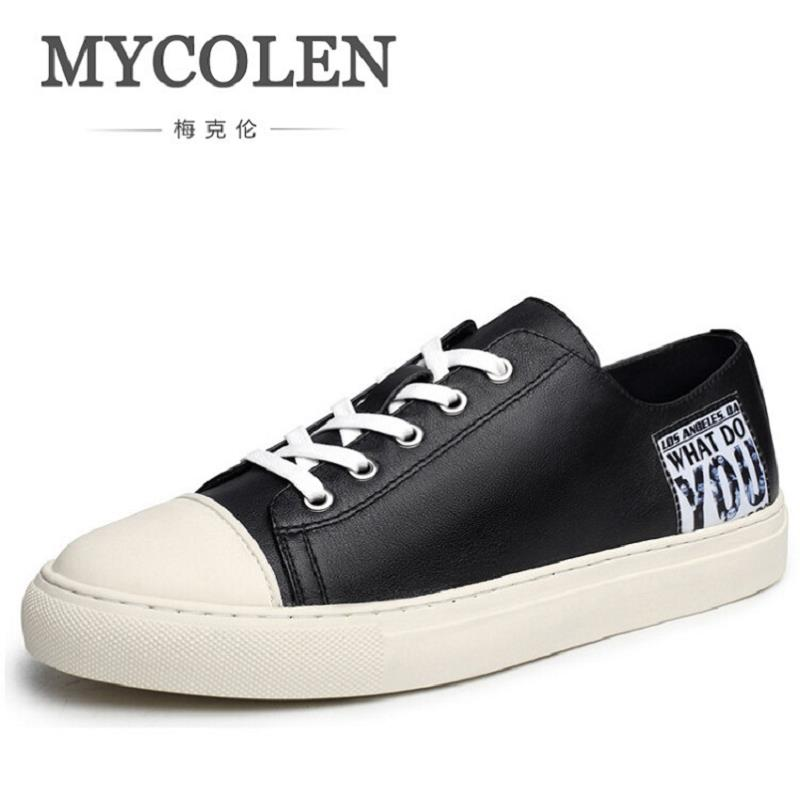 MYCOLEN Male Shoes Classic Fashion Chaussure Homme Soft Zapatos Hombre Autumn Men Cool Shoes Men Black Sapato Masculino 2017lace up superstar chaussure homme sapato masculino zapatos hombre high top rhinestones crystal silver casual shoes men flats