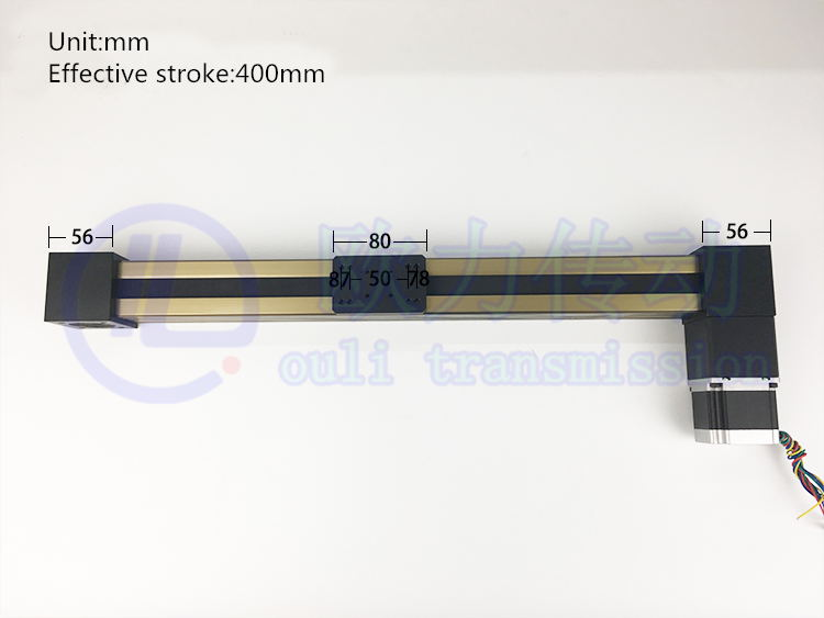 MF 3M50 Timing Belt Effective Stroke Length 2000mm Linear Slide Module Guide Sliding Rail Systems +57 Nema 23 Stepper Motor CNC toothed belt drive motorized stepper motor precision guide rail manufacturer guideway