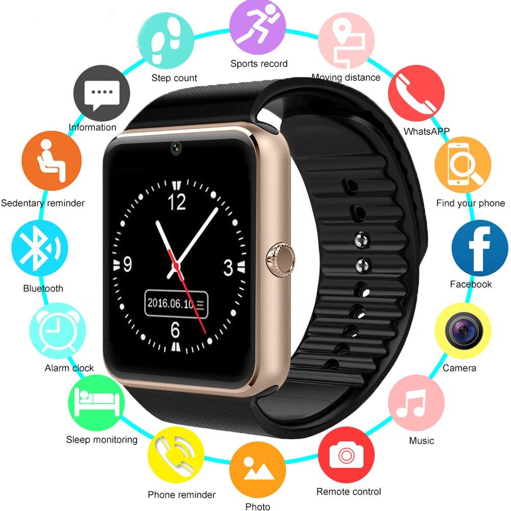 Smart Uhr GT08 Kinder Männer Frauen Kinder Uhr Telefon SIM Karte Kamera Uhr Bluetooth Smartwatch gt 08 Verbinden Android IOS PK Q18