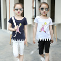 2016 Summer Kids T-shirt Boys Girls Cute Cartoon picture cotton Tops Baby Clothes4-14T