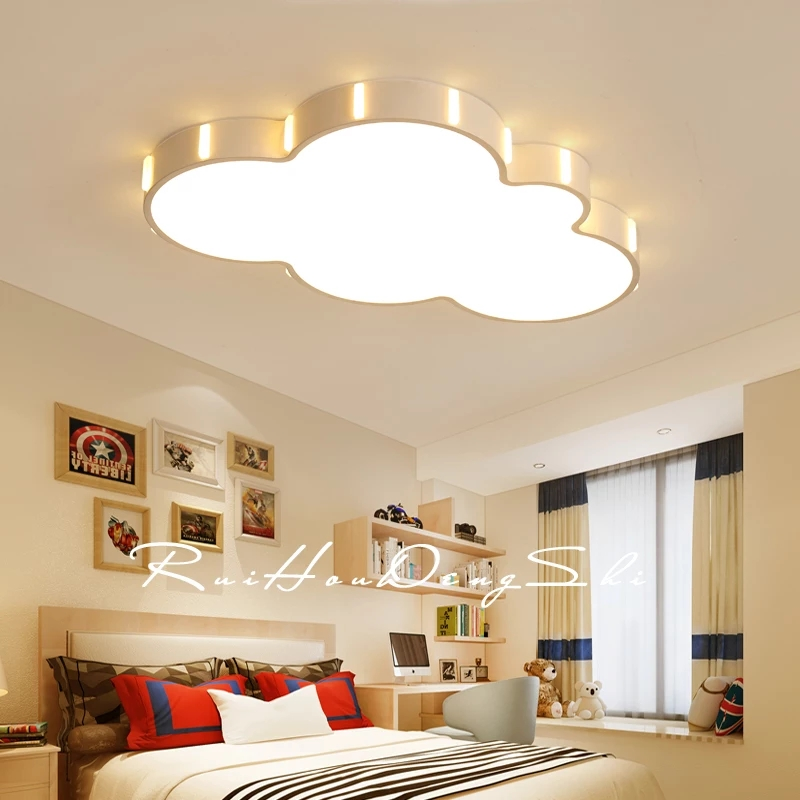 Free Shipping Modern Led Cloud Ceiling Lights For Children Room Kid room Bedroom 110V 220V hot Acrylic Ceiling Lamp Fixtures 3 head acrylic shade kids room wooden children ceiling lights led e27 bulb 110v 220v led ceiling light fixtures lustre luminaire