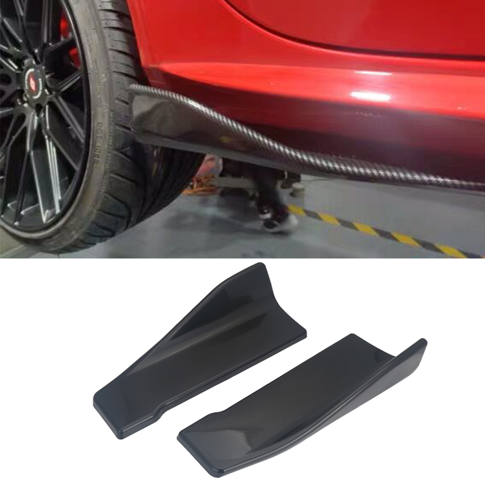 Universal Carbon Fiber Car Rear Lip Angle Splitter Diffuser Bumper Spoiler Winglet Wings Anti-crash Modified Car Body Side Skirt(China)