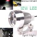 Cromo del Metal de Plata Moto Motocicleta Eléctrica 12 W 3 LLEVÓ La Linterna Cabeza de Trabajo Luz de Conducción Fog Spot Lámpara de Noche Universal