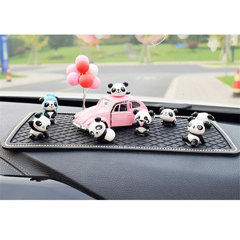 8PC Personality Panda Car Jewelry Ornaments Cute Car Decoration High-end Car Central Control Interior Auto Products Accessories Multan