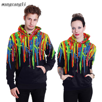 2017 Pattern Hoodies Skull Paint 3D Printing Men Women Lovers Even Hat Pullover Casual Autumn And