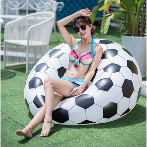 Image 1 - Football Inflatable Sofa Soccer Ball Air Lounge Chair Basketball Beanbag Lounger PVC Inflatables Furniture Garden Home Office