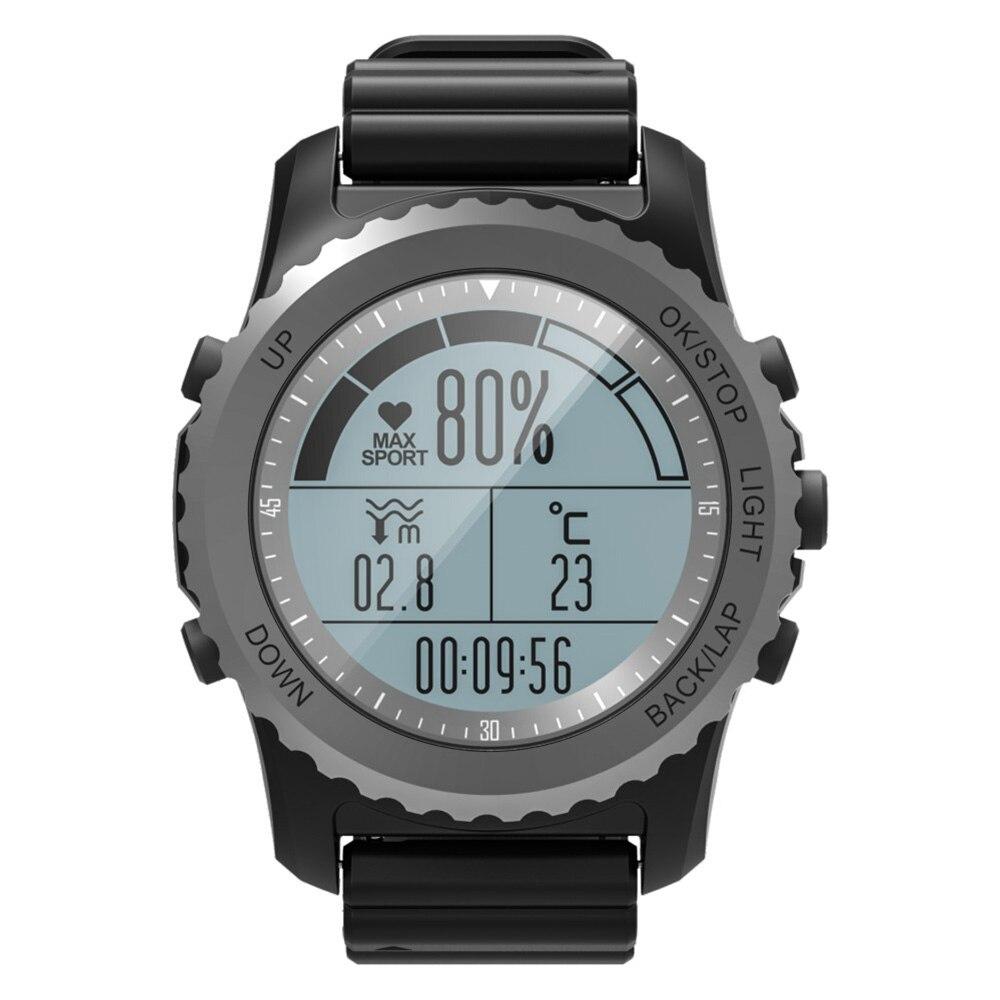Astuto Della Vigilanza Avventuriero Corsa e Jogging Nuoto Monitor di Cuore Bussola Altimetro Barometro Termometro Sport Impermeabile Della Vigilanza di GPS GPS