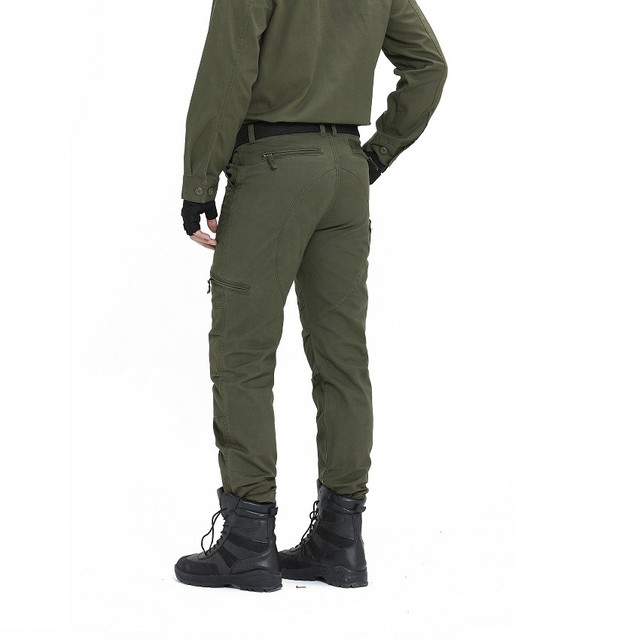 Tactical Pants Army Male Camo Jogger Plus Size Cotton Trousers Many Pocket Zip Military Style Camouflage Black Men's Cargo Pants 5