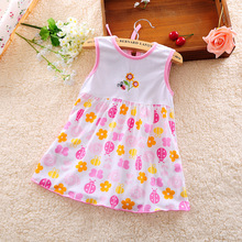 ФОТО dapchild baby girls summer floral dress toddler girl summer clothing cotton infant a-line dresses suitable newborn age 0-1 years