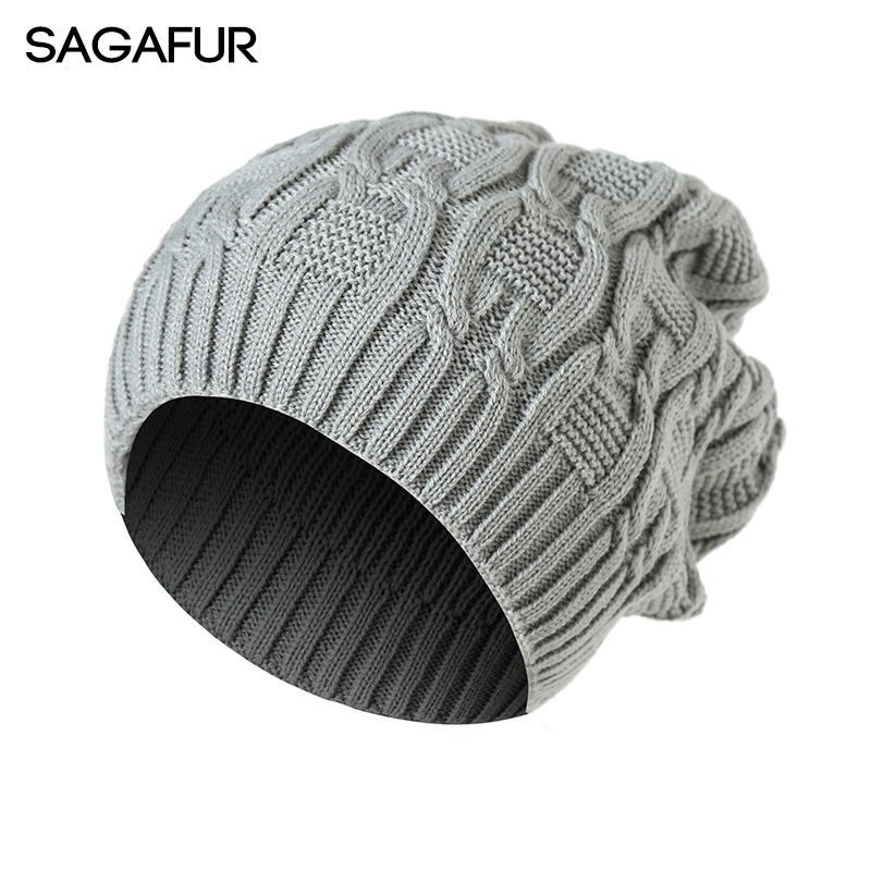 все цены на SAGAFUR  Hat Female Unique Fashion Beanie 2017 Autumn Winter Knitted New High Quality Men Women's Hats Skullies Beanies  #CAP004 онлайн