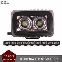 10pcs CREE 10W LED Work Light Bar 12V 24V Car Auto Truck ATV Motorcycle Trailer Yacht
