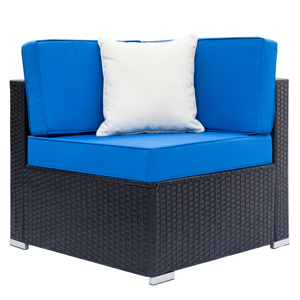 Fully Equipped Weaving Rattan Sofa Black