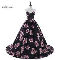 ruthshen Robe De Soiree In Stock Cheap Floral Long Evening Dresses Size 2 Size 16 Formal Prom Dress Vestito Da Sera Real Photos