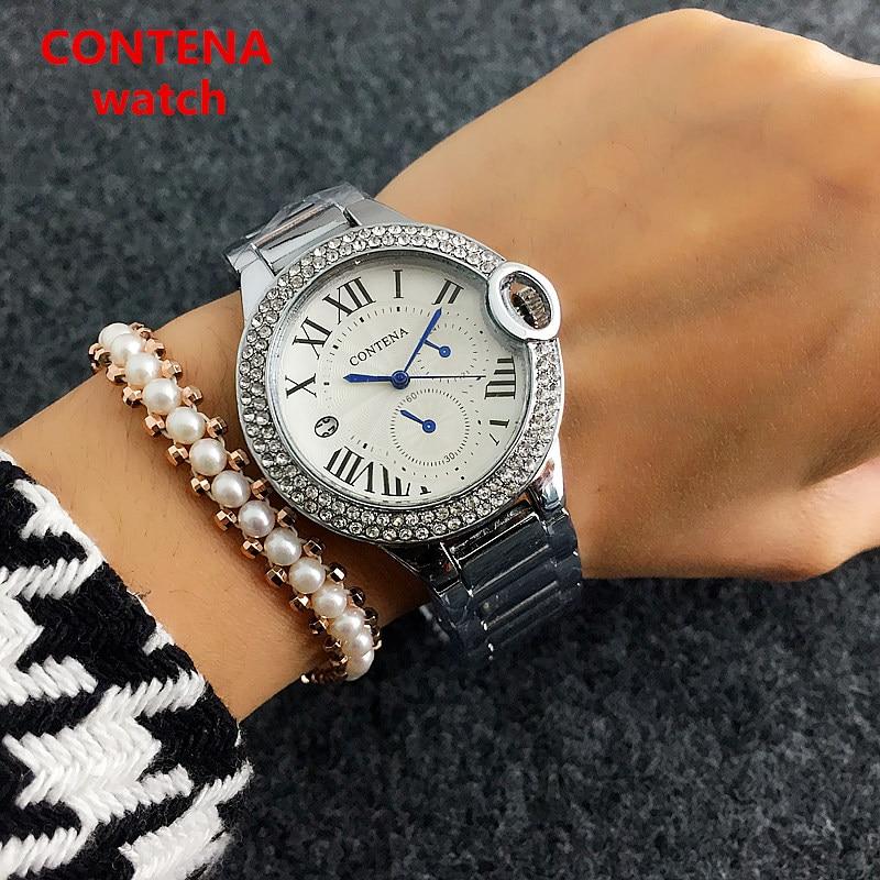 CONTENA Armbånd Quartz Watch Luksus Kvinder Casual ure Fashion Rose - Dameure - Foto 3