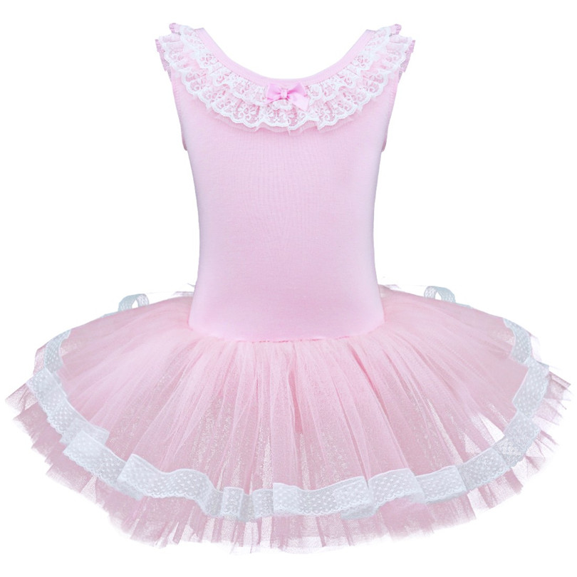 Girls Kids Gymnastics Tutu Ballet Leotard Dance Dress Ballerina Fairy Costume