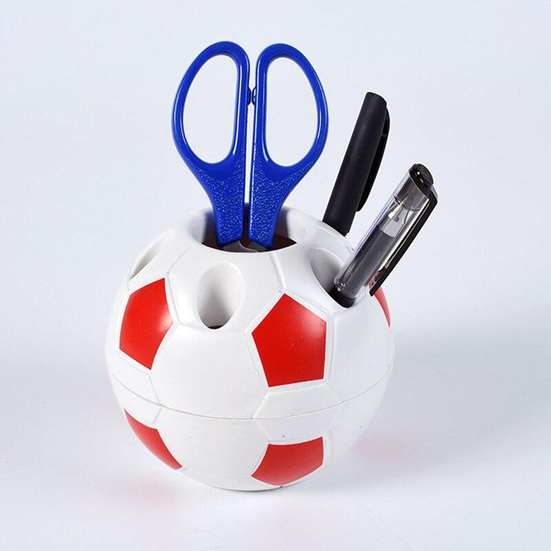 Soccer Shaped Pen Holder Football Makeup Brush Holders Desk Table Home Office Bedroom Toothbrush Holder Decoration Supplies