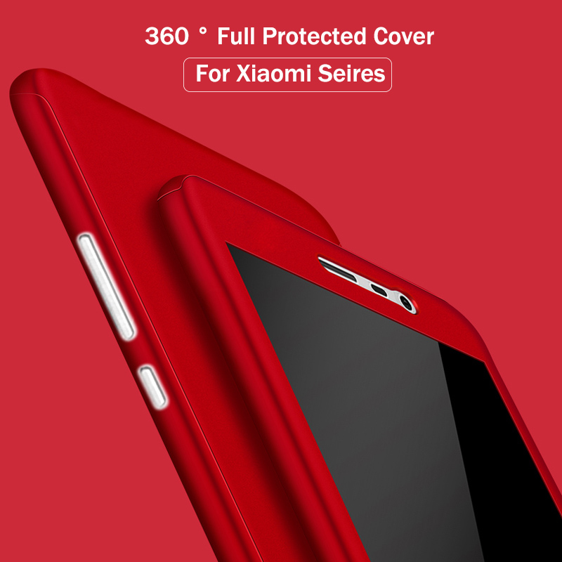 finest selection a3ebe b28a3 US $2.99 |Cover For Redmi Note 4 4X Note 3 Case 3S Mi 5S Capa 360 Degree  Full Body Protect Shockproof Armor Glass Film Note 4 3 5S 4X Case-in Fitted  ...