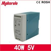 Ac dc voeding MDR-40-5 5 V 40 w 8A Din rail kleine size schakelaar voeding voor led driver