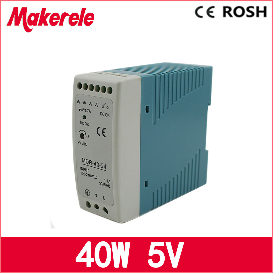 ac dc power supply MDR-40-5 5V 40w 8A Din rail small size switch power supply for led driver grundfos реле давления mdr 5 8