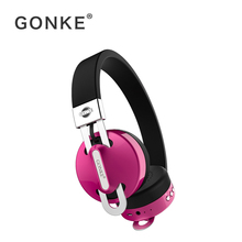 Купить с кэшбэком GONKE Active Noise Cancelling Headphones Bluetooth Wireless Over Ear Earphones Foldable deep bass Headset with microphone